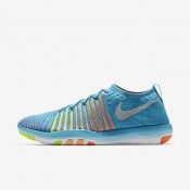Nike Free Transform Flyknit Gamma Blue/Total Orange/Peach Cream/White Womens Training Shoes