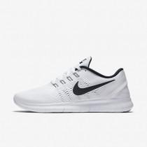 Nike Free RN White/Black Mens Running Shoes