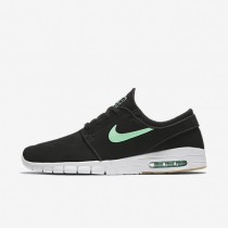 Nike SB Stefan Janoski Max L Black/White/Gum Light Brown/Green Glow Mens Skateboarding Shoes