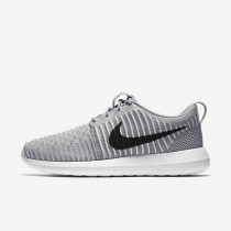 Nike Roshe Two Flyknit Wolf Grey/White/Gamma Blue/Black Mens Shoes