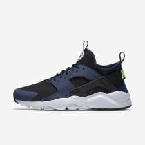 Nike Air Huarache Ultra Midnight Navy/Black/Pure Platinum/Ghost Green Mens Shoes