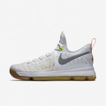 Nike Zoom KD 9 Multi-Colour/Metallic Silver Mens Basketball Shoes