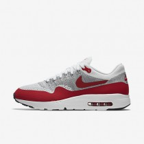 Nike Air Max 1 Ultra Flyknit White/Pure Platinum/Cool Grey/University Red Mens Shoes