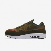 Nike Air Max 1 Ultra Flyknit Olive/Cargo Khaki/White/Cargo Khaki Mens Shoes