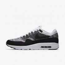 Nike Air Max 1 Ultra Flyknit White/Black/Black Mens Shoes