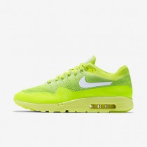 Nike Air Max 1 Ultra Flyknit Volt/Electric Green/White Mens Shoes