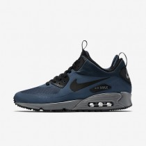Nike Air Max 90 Mid Winter Squadron Blue/Dark Grey/Bright Citrus/Black Mens Shoes