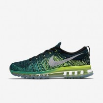 Nike Flyknit Air Max Black/Clear Jade/Volt/White Mens Running Shoes