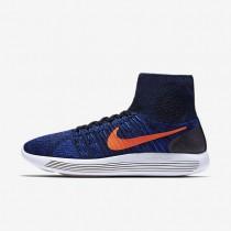 Nike LunarEpic Flyknit Black/Racer Blue/Summit White/Total Crimson Mens Running Shoes
