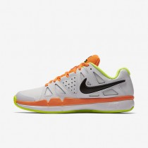 Nike Court Air Vapor Advantage Clay White/Volt/Total Orange/Black Mens Tennis Shoes