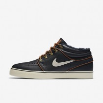 Nike Skateboarding Zoom Stefan Janoski Mid Dark Obsidian/Light British Tan/Birch Mens Shoes