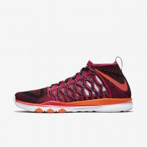 Nike Train Ultrafast Flyknit Amp Bright Crimson/Vivid Purple/Total Orange Mens Training Shoes
