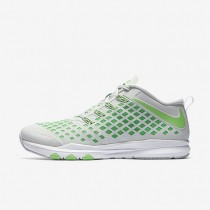Nike Train Quick Pure Platinum/Black/Rage Green Mens Training Shoes