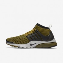 Nike Air Presto Ultra Flyknit Olive/Light Bone/Black Mens Shoes