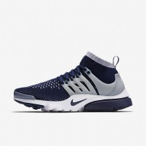 Nike Air Presto Ultra Flyknit College Navy/Wolf Grey/White/College Navy Mens Shoes