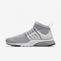 Nike Air Presto Ultra Flyknit Wolf Grey/White/Black/Pure Platinum Mens Shoes