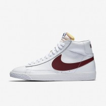 Nike Blazer Mid Retro White/White/Team Red Mens Shoes