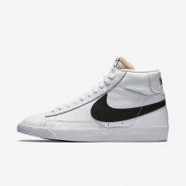 Nike Blazer Mid Retro White/White/Black Mens Shoes