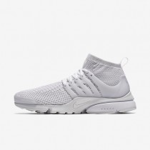 Nike Air Presto Ultra Flyknit White/White/Total Crimson/White Mens Shoes