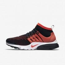 Nike Air Presto Ultra Flyknit Black/White/Bright Crimson Mens Shoes
