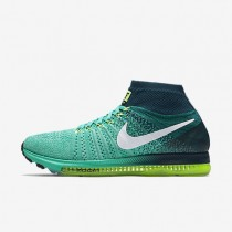 Nike Air Zoom All Out Flyknit Clear Jade/Midnight Turquoise/Volt/Volt Mens Running Shoes