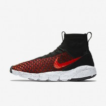 Nike Air Footscape Magista Flyknit Black/Gym Red/Cool Grey/Bright Crimson Mens Shoes