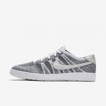 Nike Court Tennis Classic Ultra Flyknit White/Black/White Mens Shoes
