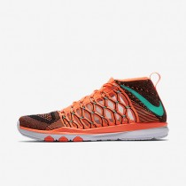 Nike Train Ultrafast Flyknit Bright Mango/Hyper Jade/Night Maroon Mens Training Shoes