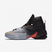 Nike LeBron XIII Wolf Grey/Black/Cool Grey/Bright Crimson Mens Basketball Shoes