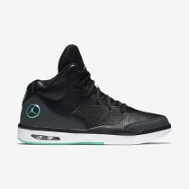 Jordan Flight Tradition Black/Anthracite/White/Hyper Turquoise Mens Shoes