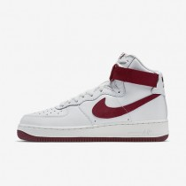 Nike Air Force 1 High Retro QS Summit White/Team Red Mens Shoes