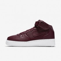 Nike Lab Air Force 1 Mid Night Maroon/Night Maroon/White Mens Shoes