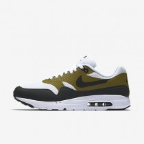 Nike Air Max 1 Ultra Essential White/Olive/White/Anthracite Mens Shoes