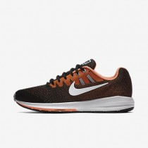 Nike Air Zoom Structure 20 Black/Total Orange/Wolf Grey/White Mens Running Shoes