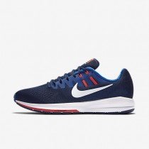 Nike Air Zoom Structure 20 Binary Blue/Hyper Cobalt/Bright Crimson/White Mens Running Shoes