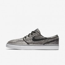 Nike SB Zoom Stefan Janoski Premium 'Cobra' Black/Green Glow/Black/White Mens Skateboarding Shoes