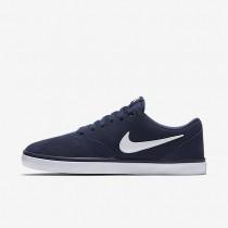 Nike SB Check Solarsoft Midnight Navy/White Mens Skateboarding Shoes