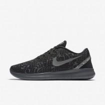 Nike Free RN (Rostarr) Black/Dark Grey/Wolf Grey/Reflect Silver Mens Running Shoes