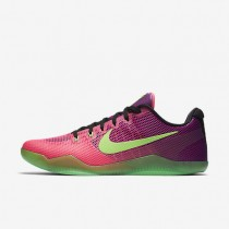 Nike Kobe XI Pink Flash/Red Plum/Action Green Mens Basketball Shoes