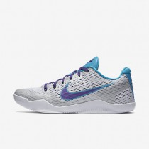 Nike Kobe XI White/Blue Lagoon/Court Purple Mens Basketball Shoes