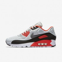 Nike Air Max 90 Ultra SE Pure Platinum/Neutral Grey/Bright Crimson/Cool Grey Mens Shoes