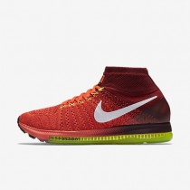 Nike Air Zoom All Out Flyknit Bright Crimson/Team Red/Volt/Volt Mens Running Shoes
