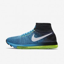 Nike Air Zoom All Out Flyknit Blue Lagoon/White/Black/Dark Purple Dust Mens Running Shoes