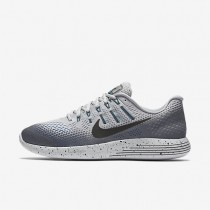 Nike LunarGlide 8 Shield Wolf Grey/Cool Grey/Blue Glow/Black Mens Running Shoes
