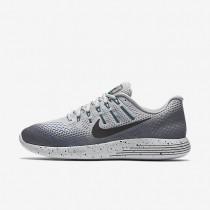 Nike LunarGlide 8 Shield Wolf Grey/Cool Grey/Blue Glow/Black Mens Running Shoes