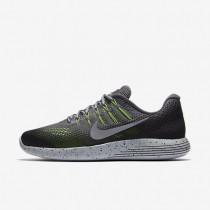 Nike LunarGlide 8 Shield Dark Grey/Black/Volt/Metallic Silver Mens Running Shoes