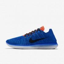 Nike Free RN Flyknit Racer Blue/Total Crimson/Photo Blue/Black Mens Running Shoes