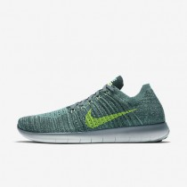 Nike Free RN Flyknit Hasta/Seaweed/Green Glow/Ghost Green Mens Running Shoes