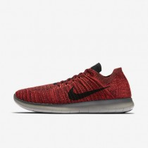Nike Free RN Flyknit Team Red/Total Crimson/Dark Grey/Black Mens Running Shoes