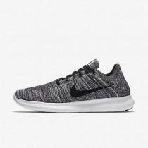 Nike Free RN Flyknit White/Black Mens Running Shoes